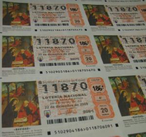 Boleto de lotería de Navidad